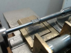fabricando eje de barrilete