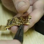 Eslabones de la pulsera de un reloj